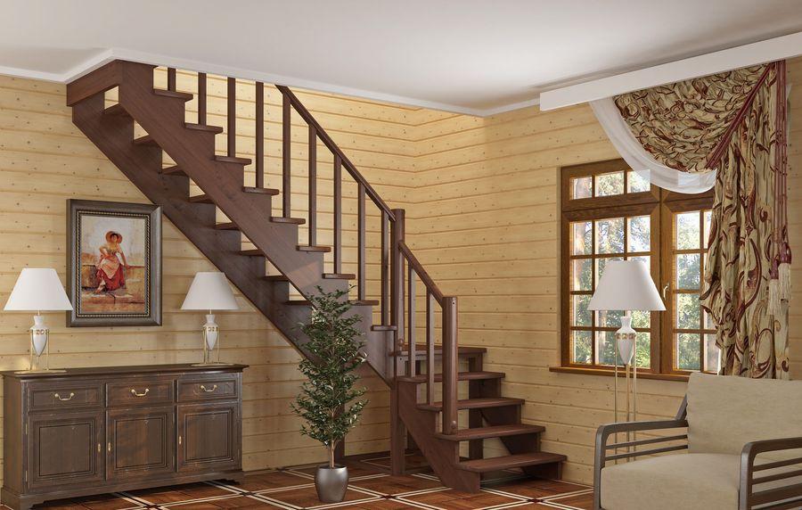 варианты простых деревянных лестниц фото художественный паркет