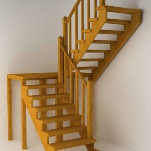 П-образная деревянная лестница, ДЛС-019
