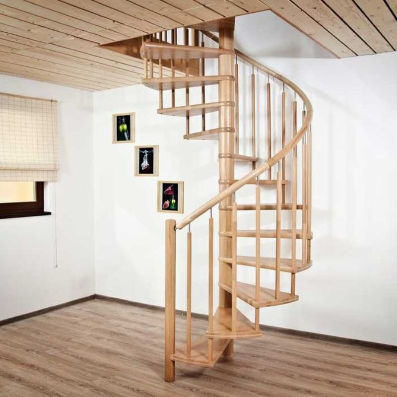 Винтовая деревянная лестница, ДЛС-028