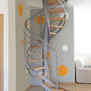 Винтовая деревянная лестница модульная ДЛС-036