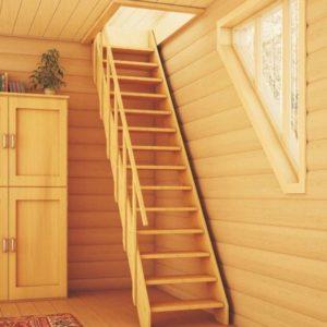 Чердачная деревянная лестница из дуба, ДЛС-039