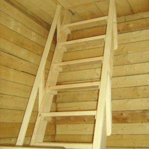 Чердачная деревянная лестница из лиственницы, ДЛС-041
