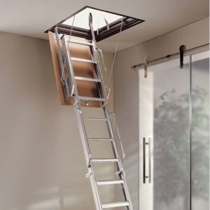 Чердачная деревянная лестница модульная, ДЛС-045