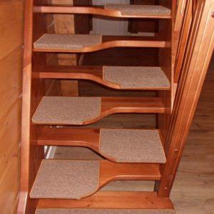 Лестница утиный шаг деревянная, ДЛС-064