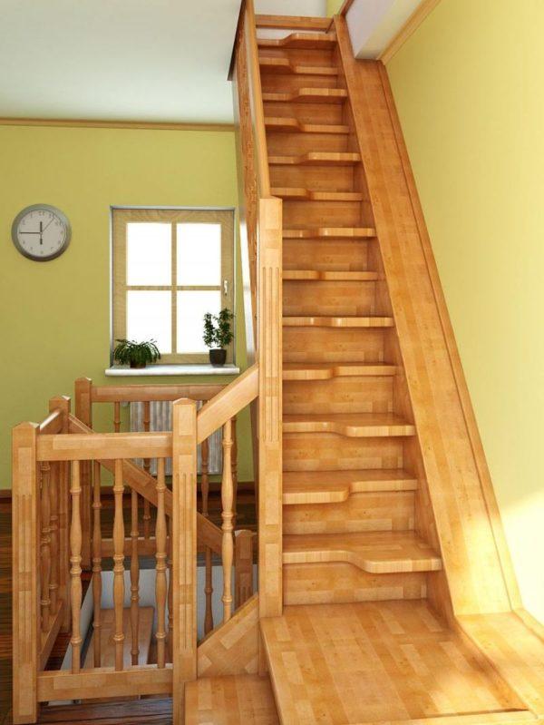 Лестница произвольной формы деревянная, ДЛС-055
