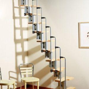 Лестница утиный шаг деревянная модульная, ДЛС-072