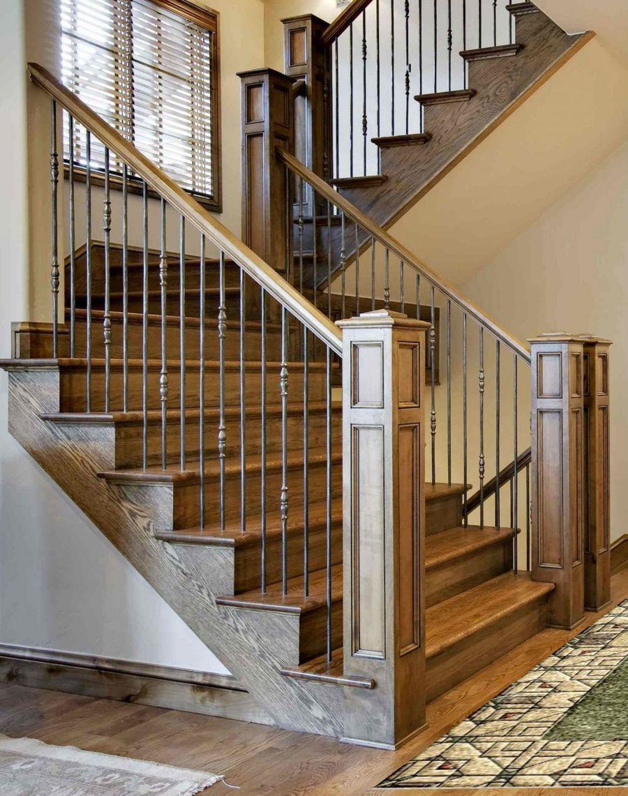 бетонная лестница отделка деревом фото