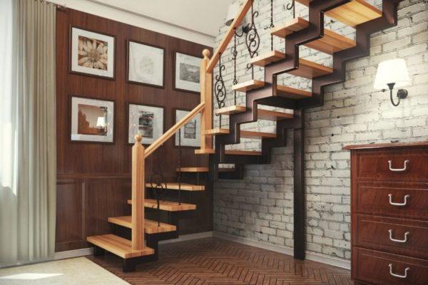 Облицовка металлических лестниц