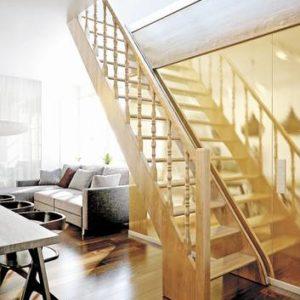 Деревянная лестница прямая ЛЕС-12