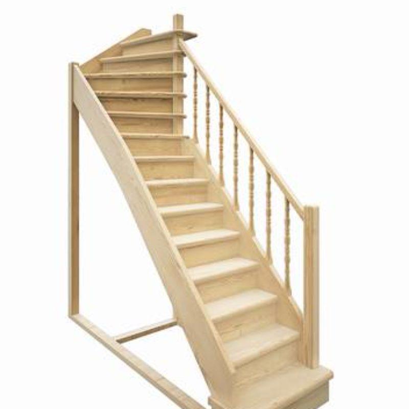 Деревянная межэтажная лестница ЛЕС-215