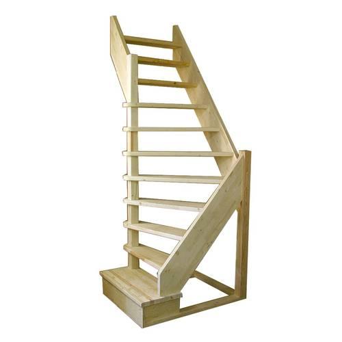 Деревянная межэтажная лестница ЛЕС-92