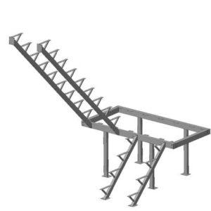 Каркас к лестнице ЛЕС-06 универсальной