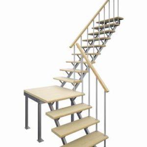 Комбинированная межэтажная лестница ЛЕС-05-3