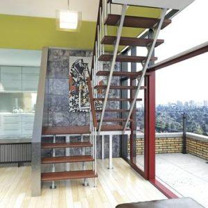Комбинированная межэтажная лестница ЛЕС-06