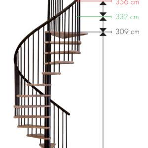 Винтовые лестницы MINKA Spiral Wood 140 дуб, черный