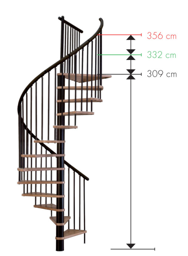Винтовая лестница MINKA Spiral Wood, черный