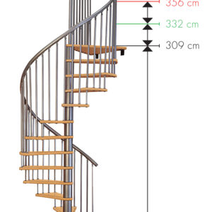 Винтовая лестница MINKA Spiral Decor 140, серебро