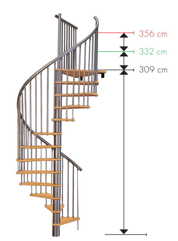 Винтовая лестница MINKA Spiral Wood, серебро