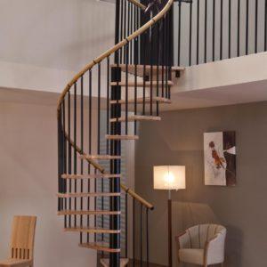 Винтовая лестница MINKA Spiral Decor 120, черный