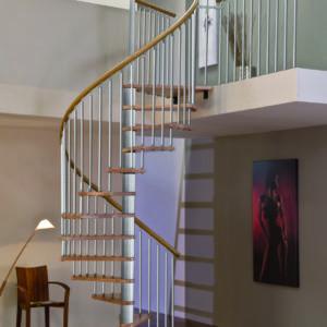Винтовая лестница MINKA Spiral Decor 120, серебро