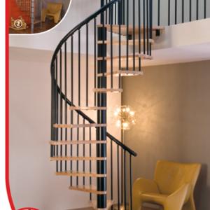 Винтовая лестница MINKA Spiral Effect 120, черный