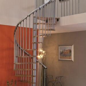 Винтовая лестница MINKA Spiral Effect 160, серебро