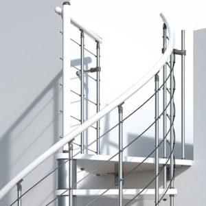 Винтовая лестница MINKA Venezia 120 бук,белый/белое
