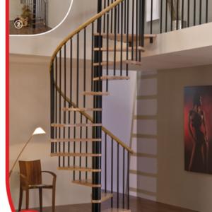 Винтовые лестницы MINKA Spiral Wood 120 дуб, черный