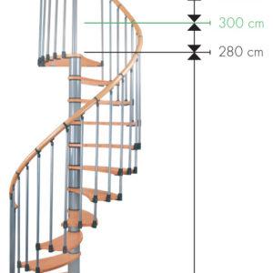 Винтовая лестница MINKA Wave Plus 140 береза